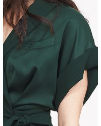 Banana Republic | Green Br Monogram Satin Wrap Dress | Lyst