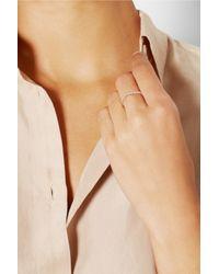 Repossi   Pink Antifer 18-Karat Rose Gold Diamond Ring   Lyst