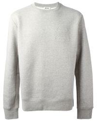 Acne Studios - Gray 'corben' Sweatshirt for Men - Lyst