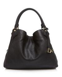 Diane von Furstenberg - Black Voyage Slouchy Shoulder Bag - Lyst