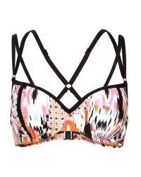 Seafolly - Black Beach Gypsy Bustier Bra Bikini Top - Lyst