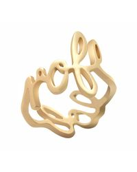 House of Holland | Metallic Gold Plated Scribble Ring | Lyst