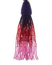 Oscar de la Renta   Purple Ombré Bead Tassel Earrings   Lyst