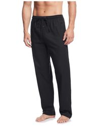 Polo Ralph Lauren | Black Men's Flannel Solid Pajama Pant for Men | Lyst
