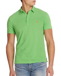 Polo Ralph Lauren | Blue Featherweight Cotton Polo Shirt for Men | Lyst