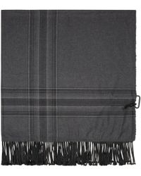 3.1 Phillip Lim - Black And Grey Plaid Scarf for Men - Lyst