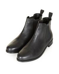 TOPSHOP - Black Month Chelsea Boots - Lyst