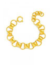 BaubleBar | Metallic Rail Charm Bracelet | Lyst