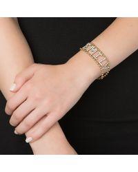 Elizabeth Cole | Metallic Crystal Nameplate Bracelet | Lyst