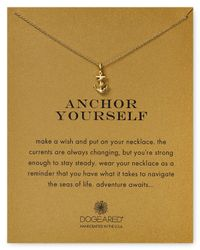 Dogeared | Metallic Anchor Yourself Necklace, 18"