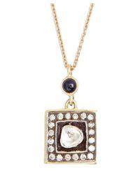 Amrapali - Metallic Blue Sapphire And Diamond 'soul Bazar' Pendant Necklace - Lyst