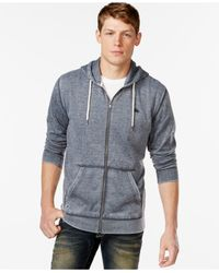 Quiksilver | Blue Zipper-front Drawstring Hoodie for Men | Lyst