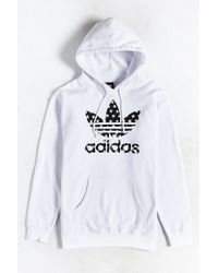 Adidas Originals | White Star Filled Pullover Hoodie Sweatshirt for Men | Lyst