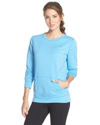 Under Armour - Blue Coldgear Crewneck Pullover Sweatshirt - Lyst