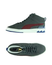 PUMA - Gray High-tops & Trainers - Lyst