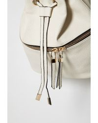 Forever 21 | Natural Pebbled Faux Leather Backpack | Lyst