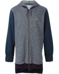 Vivienne Westwood - Gray Herringbone Pattern Hooded Jacket for Men - Lyst