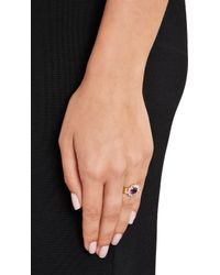 Renee Lewis - Metallic Amethyst & White Diamond Ring - Lyst