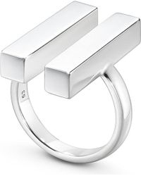 Georg Jensen - Multicolor Aria Sterling Silver Two Bar Ring - Lyst