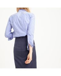 J.Crew - Blue Favorite Shirt In Stripe - Lyst