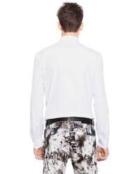 McQ - White Bat Printed Cotton Poplin Shirt for Men - Lyst
