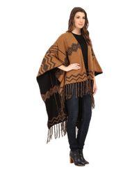 Pendleton | Black Knit Blanket Shawl | Lyst