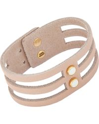 Isabel Marant - Natural Studded Leather Bracelet - Lyst