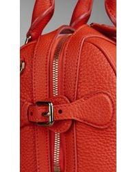 Burberry | Red The Small Alchester In Grainy Leather | Lyst