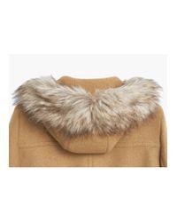 Mango | Brown Hooded Wool Coat | Lyst