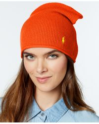 Polo Ralph Lauren | Orange Wool/cashmere Slouchy Hat | Lyst
