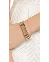 Tory Burch - Pink For Fitbit Metal Hinged Bracelet - Rose Gold - Lyst