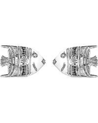 Theo Fennell | Blue 18ct White-gold Angel Fish Stud Earrings - For Women | Lyst