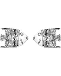 Theo Fennell - Metallic 18ct White-gold Angel Fish Stud Earrings - Lyst