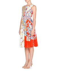 Emilio Pucci - Red Geometric Cady Laser-cut Dress - Lyst