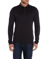 Michael Kors - Black Sleek Mk Slim Fit Long Sleeve Polo Shirt for Men - Lyst
