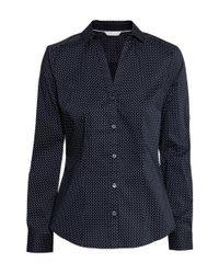 H&M | Blue Stretch Shirt | Lyst