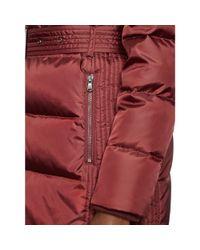 Ralph Lauren   Pink Belted Down Coat   Lyst