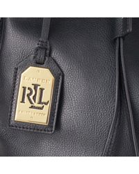 Ralph Lauren - Black Crawley Leather Drawstring Bag - Lyst
