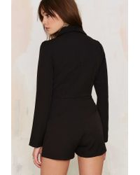 Nasty Gal | Black Blazer Of Glory Tux Romper | Lyst