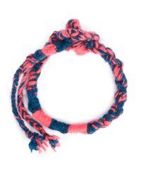 The Elder Statesman - Blue Double Wrap Bracelet - Lyst