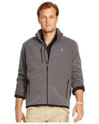 Polo Ralph Lauren | Gray Big And Tall Microfleece Track Jacket for Men | Lyst