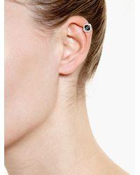Yvonne Léon | Metallic Black Onyx And Diamond Ear Cuff | Lyst