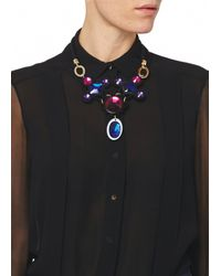 Matthew Williamson | Black Jewelled Crescent Necklace | Lyst