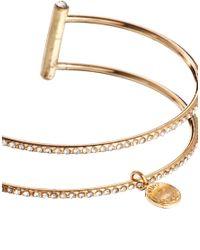 Kurt Geiger | Metallic Belle Multi Fine Cuff Bracelet | Lyst