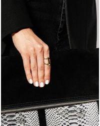 Pieces | Metallic Elona Graphic Ring | Lyst