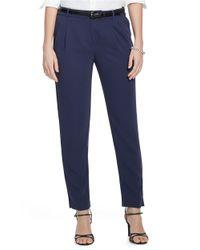 Lauren by Ralph Lauren | Blue Skinny Crepe Pants | Lyst
