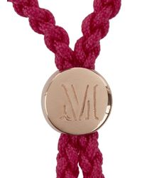 Monica Vinader | Pink Fiji Love 18Kt Rose Gold-Plated Bracelet | Lyst