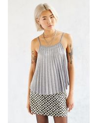 Silence + Noise - Metallic Get Glam Cami - Lyst
