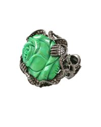 Wendy Yue - Green Turquoise Flower Ring - Lyst