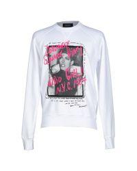 DSquared² - White Sweatshirt for Men - Lyst